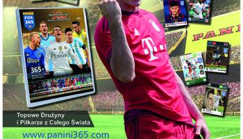 Gwiazda piłki nożnej reklamuje kolekcję kart PANINI FIFA® 365 ADRENALYN XL™ – zobacz spot!