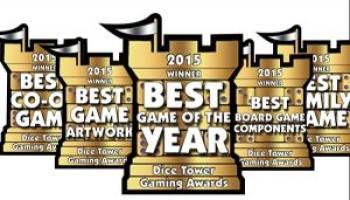 Znamy zwycięzców nagrody Dice Tower 2015!