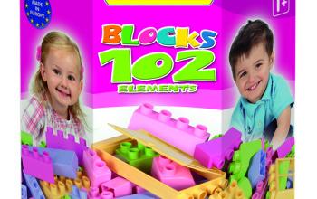 Klocki 102 elementy w kartonie 41291