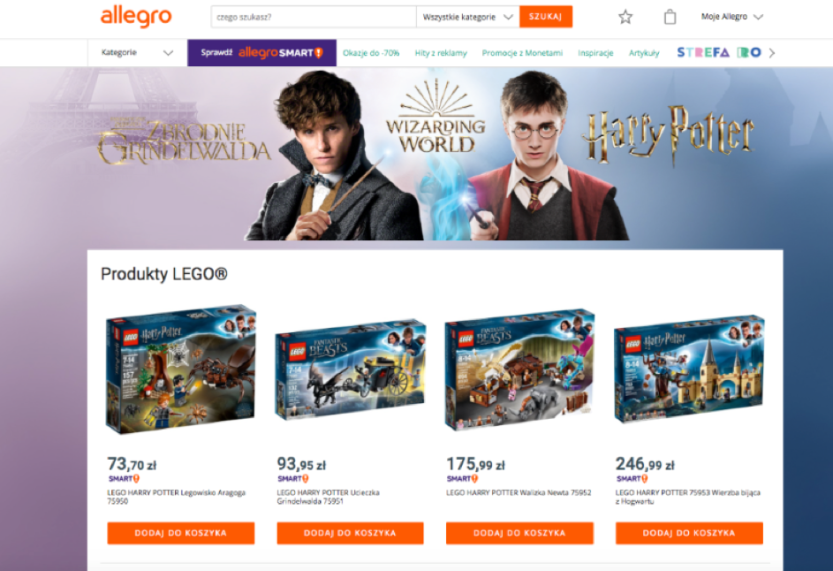 ELC: Kampania Harry Potter na Allegro
