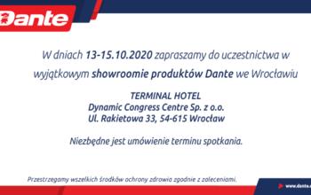 DANTE: wyjątkowy showroom we Wrocławiu (13-15.10.2020 r.)!