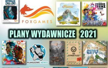 FOXGAMES: przedstawia plany wydawnicze na 2021 r.