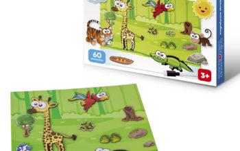 Zwierzęta puzzle magnetyczne