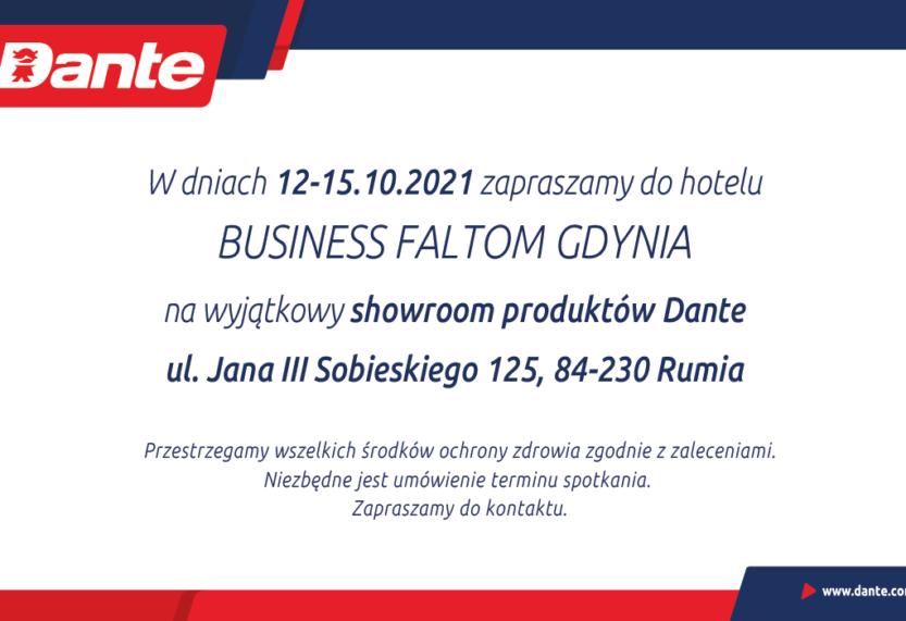 DANTE organizuje showroom swoich produktów w Gdyni i Katowicach!